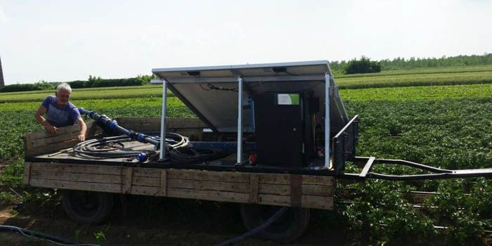 Zahtevi su 24m3/dan, sa pritiskom od 1,2 bara na površini. Isporučena je i ugrađena Lorentz centrifugalna pumpa PS2-600 C-SJ5-8